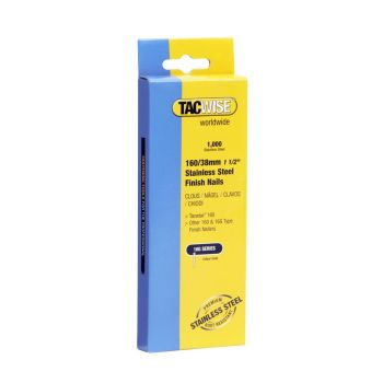 Tacwise Type 160 - 38mm 16G Stainless Finish Nails 1000 Pack - 1097