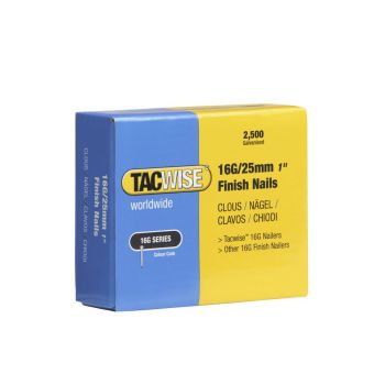Tacwise Type 16G - 25mm Finish Nails (2