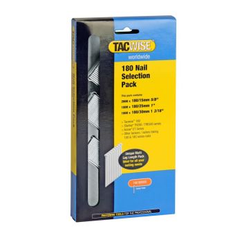 Tacwise Type 180 (18G) - Nail Selection Pack (4
