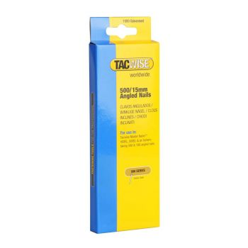 Tacwise Type 500 - 15mm 18G Angled Nails (1