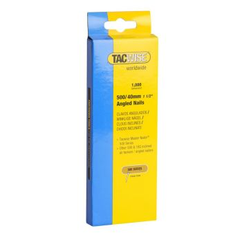 Tacwise Type 500 - 40mm 18G Angled Nails (1