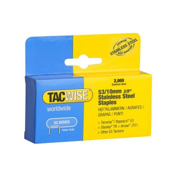 Tacwise Type 53 - 10mm Stainless Steel Staples (2