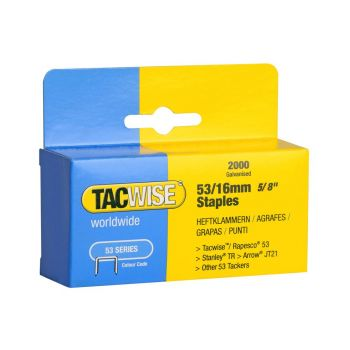 Tacwise Type 53 - 16mm Staples (2,000 pack) - 0339