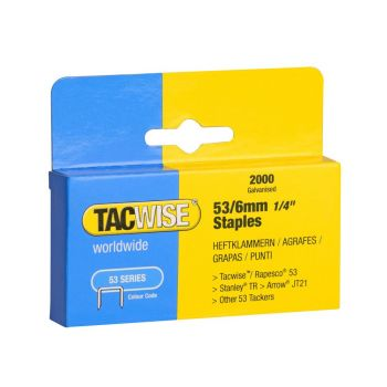 Tacwise Type 53 - 6mm Staples (2