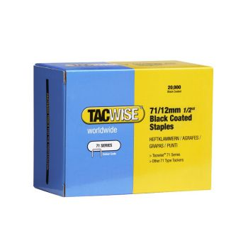 Tacwise Type 71 - 10mm Black Staples (20
