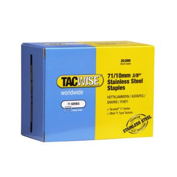 Tacwise Type 71 - 10mm Stainless Steel Staples (20