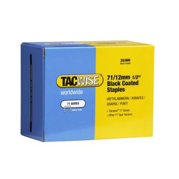 Tacwise Type 71 - 12mm Black Staples (20
