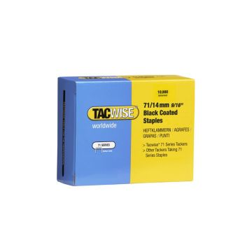 Tacwise Type 71 - 14mm Black Staples (10