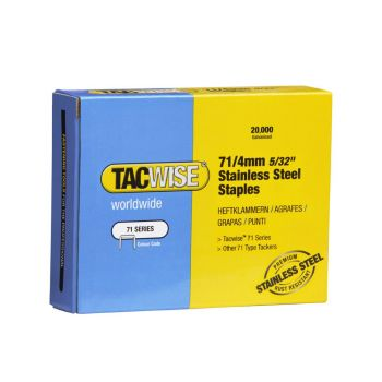 Tacwise Type 71 - 4mm Stainless Steel Staples (20