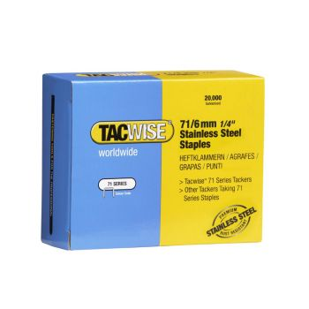 Tacwise Type 71 - 6mm Stainless Steel Staples (20