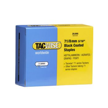 Tacwise Type 71 - 8mm Black Staples (20