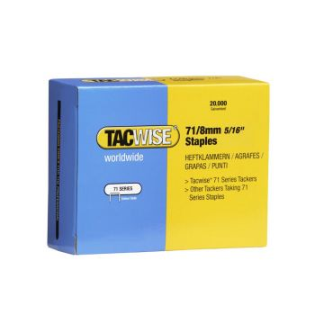 Tacwise Type 71 - 8mm Staples (20