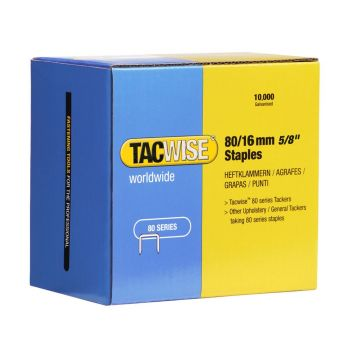 Tacwise Type 80 - 16mm Staples (10