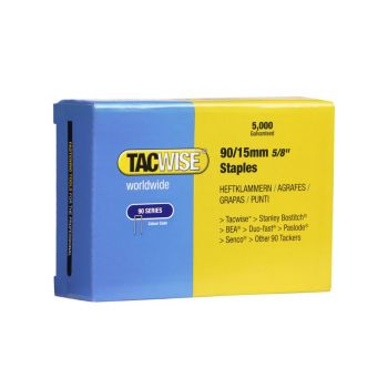 Tacwise Type 90 - 15mm Narrow Crown Staples (5