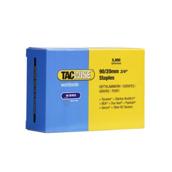 Tacwise Type 90 - 20mm Narrow Crown Staples (5