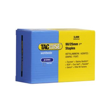 Tacwise Type 90 - 25mm Narrow Crown Staples (5