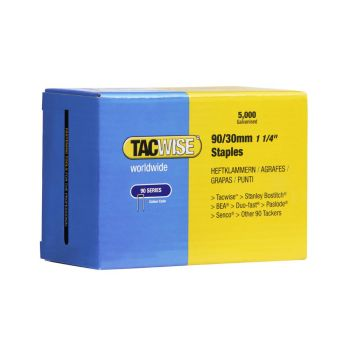 Tacwise Type 90 - 30mm Narrow Crown Staples (5
