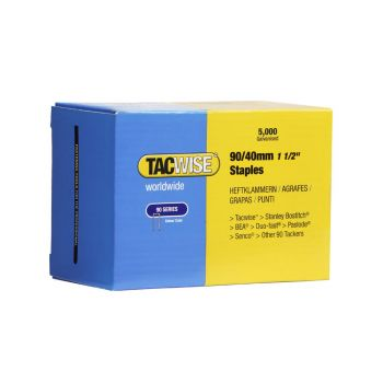 Tacwise Type 90 - 40mm Narrow Crown Staples (5
