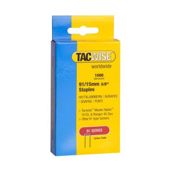 Tacwise Type 91 - 15mm Staples (1