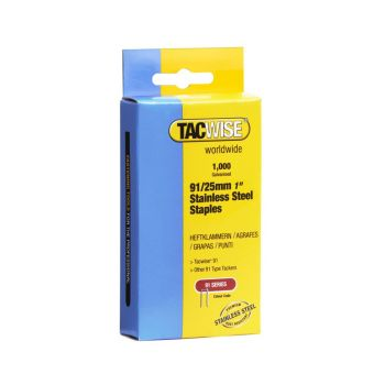 Tacwise Type 91 - 25mm Stainless Steel Staples (1