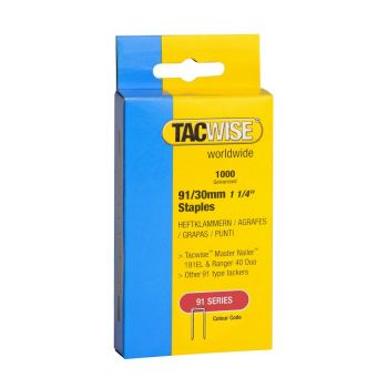 Tacwise Type 91 - 30mm Staples (1
