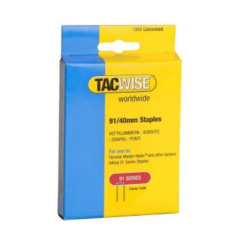 Tacwise Type 91 - 40mm Staples (1