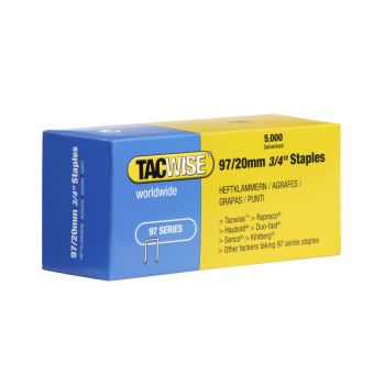 Tacwise Type 97 - 20mm Narrow Crown Staples (5