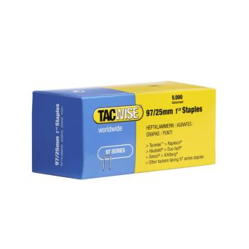 Tacwise Type 97 - 25mm Narrow Crown Staples (5