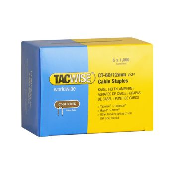 Tacwise Type CT-60 - 12mm Cable Staples (5