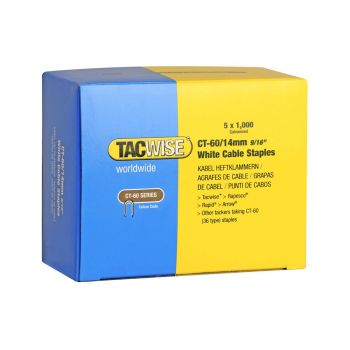Tacwise Type CT-60 - 14mm white Cable Staples (5