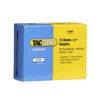 Tacwise Type 71 - 6mm Staples (20