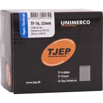 Tjep TF16 32mm Galv Brads (5000 Pack) - 34TJEPSB1632