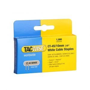 Tacwise Type CT-45 - 10mm White Cable Staples (5
