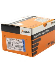 Paslode IM65A and IM250A Angled Brad Fuel Pack F16  - 63mm Electro Galvanised -  2 Fuel Cells -2,000 Pack