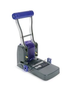 Rapesco ECO P1100 Heavy Duty 2-Hole Punch (100 Sheets) (black / purple) - 0247