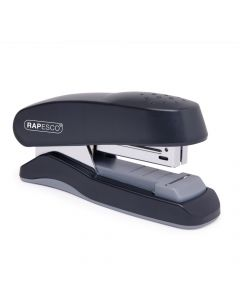 Rapesco Flat Clinch Half Strip Stapler (black) - 1064