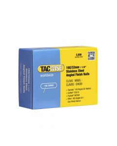 Tacwise 16G - 32mm Angled Stainless Finish Nails 2500 Pack - 1222