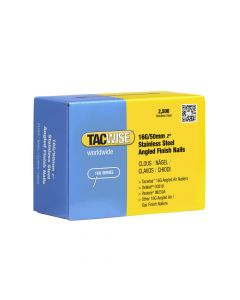 Tacwise 16G - 50mm Angled Stainless Finish Nails 2500 Pack - 1225