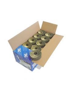 Tacwise 2.1 - 40mm Coil Nails Flat Top Bright, Ring 14400 Pack - 0995