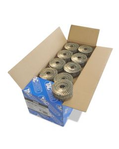 Tacwise 2.1 - 45mm Coil Nails Flat Top Galv, Ring 14400 Pack - 0998