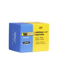 Tacwise Type 16G - 55mm Finish Nails (2,500 Pack) - 0299