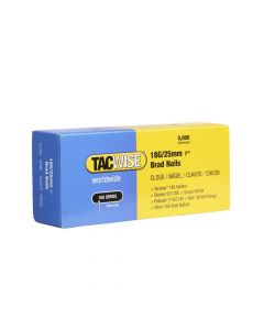 Tacwise Type 18G - 25mm Brad Nails (5,000 Pack) - 0396