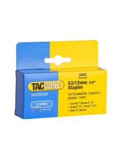 Tacwise Type 53 - 12mm Staples (2,000 pack) - 0337