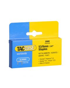 Tacwise Type 53 - 6mm Staples (2,000 pack) - 0334
