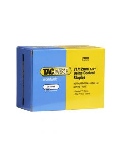 Tacwise Type 71 - 12mm Beige Staples (20,000 Pack) - 0488
