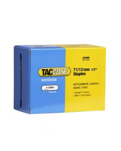 Tacwise Type 71 - 12mm Staples (20,000 Pack) - 0370