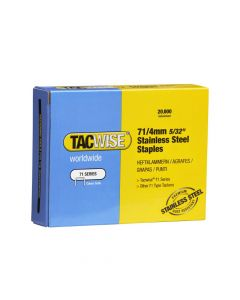 Tacwise Type 71 - 4mm Stainless Steel Staples (20,000 Pack) - 1126