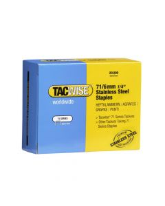 Tacwise Type 71 - 6mm Stainless Steel Staples (20,000 Pack) - 1014