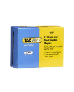 Tacwise Type 71 - 8mm Black Staples (20,000 Pack) - 1065