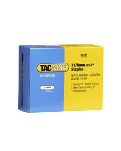 Tacwise Type 71 - 8mm Staples (20,000 Pack) - 0368